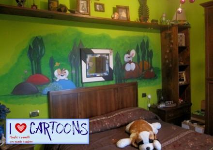 Camerette bambini murales diddl e diddlina i love for Pitture per camerette ragazzi