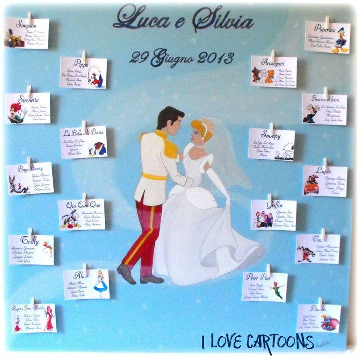 Matrimonio Tema Balli Latini : Tableau de mariage i love cartoons murales e pannelli