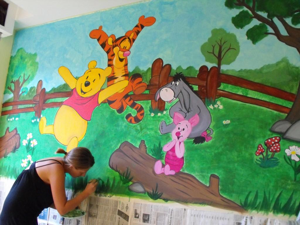 Murales winnie the pooh nella cameretta del tuo bambino - Murales cameretta bimbi ...