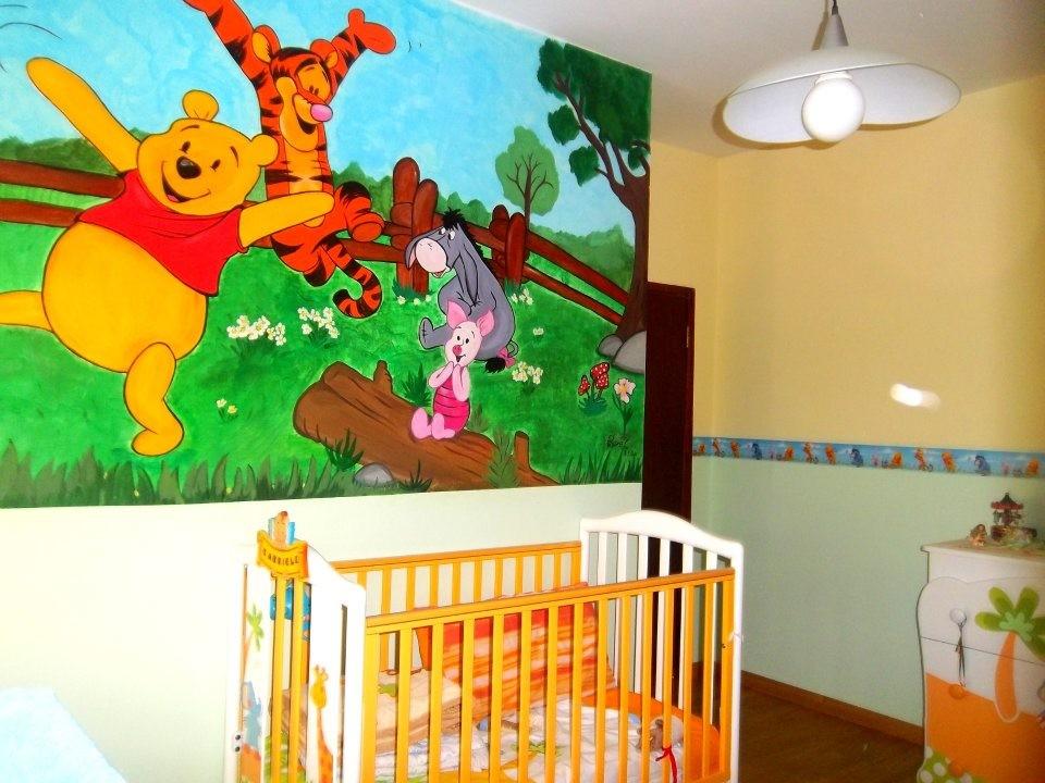 Murales winnie the pooh nella cameretta del tuo bambino for Disegni per pareti