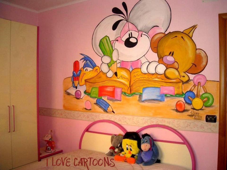 Murales Diddl per la cameretta dei bambini  I love cartoons - Murales ...