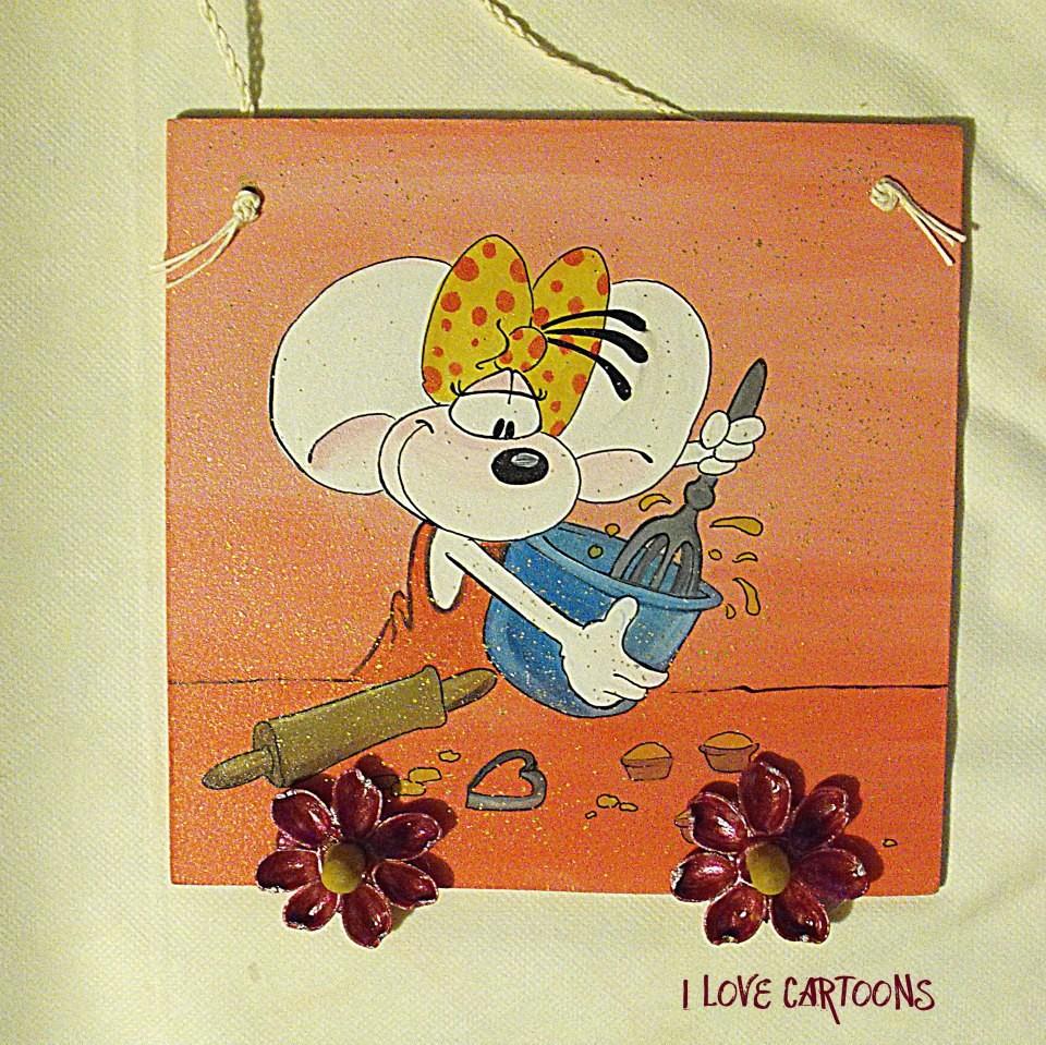 Portapresine per la tua cucina i love cartoons murales for Murales per cucina